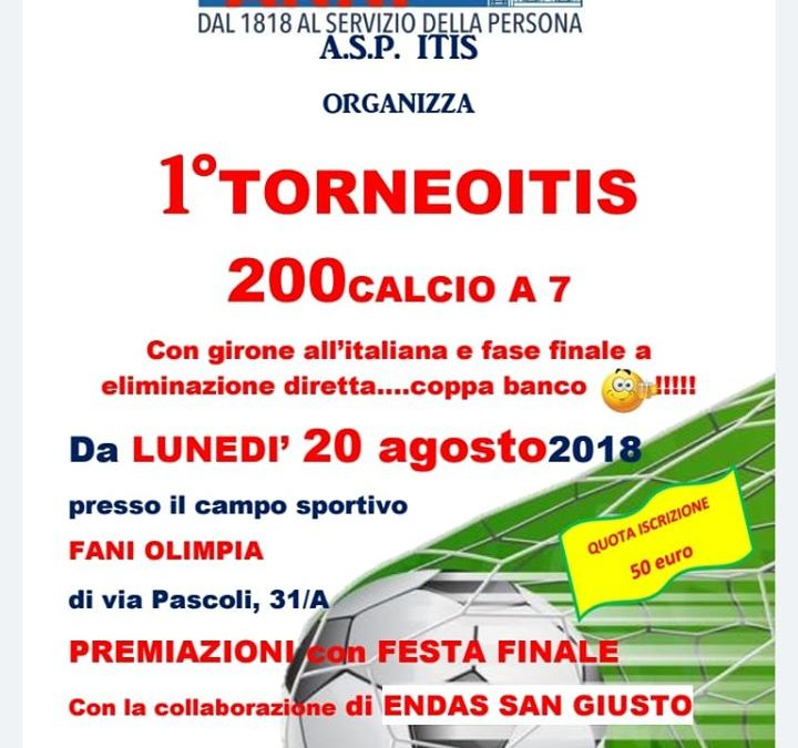 1° Torneo ITIS 20/08/2018
