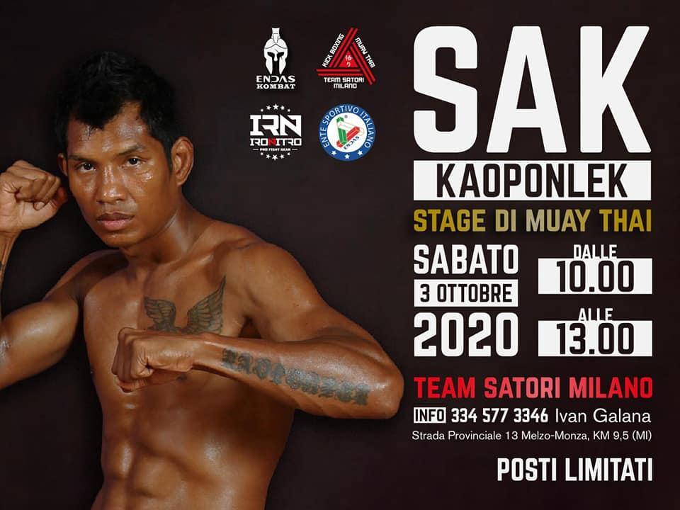 stage con Sak Kaoponlek